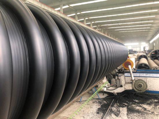 Large Diameter PE Wound Reinforced Pipe HDPE Winding Drainage Pipe Krah