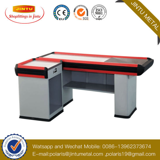 Factory Sales Supermarket Check out Counter Cash Counter Table pictures & photos