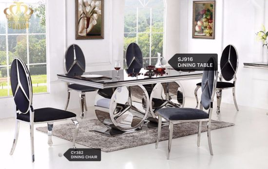 2017 Modern Stainless Steel Dining Table Legs With Fashion Designs For Sale  Sj916