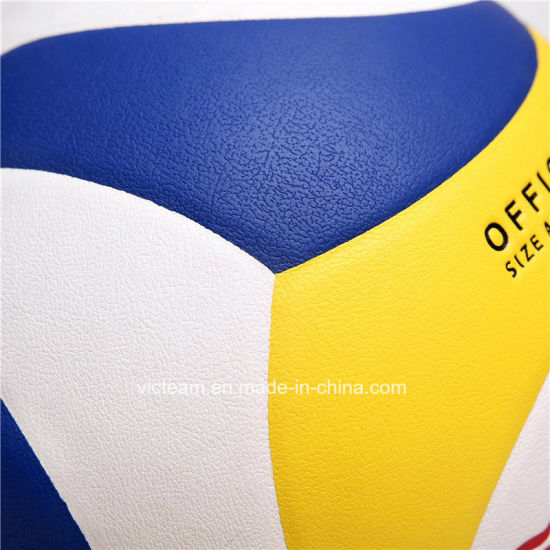 Top Quality Genuine Leather Competition Volleyball pictures & photos