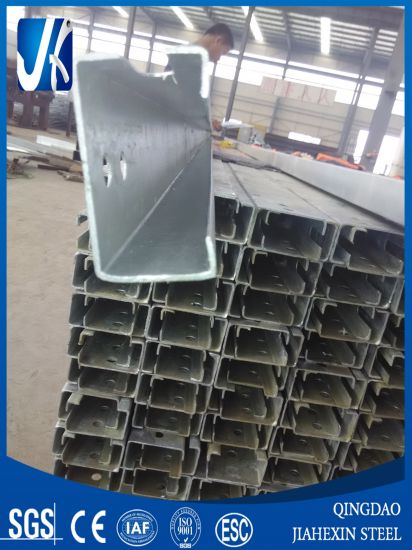 Material Q235/Q345 Steel Structure Galvanized C Channel Cold Formed Steel Purlin pictures & photos