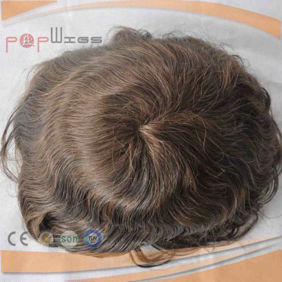 100% Brazilian Hair Dark Brwon Color Toupee for Men (PPG-l-0221) pictures & photos