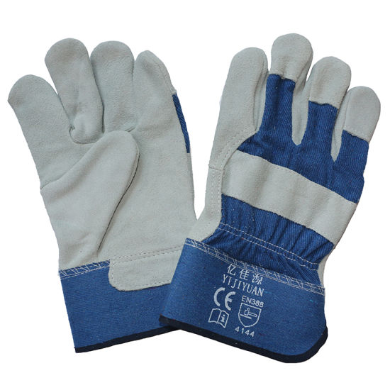 Cow Split Leather Anti-Scratch Safety Protective Work Gloves with En 388 pictures & photos