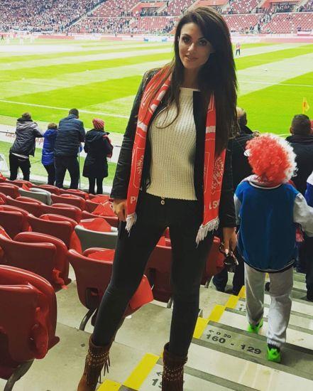 Acrylic Knit Jacquard Football Team Scarf