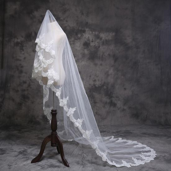 High Quality Lace Long Bridal Wedding Veil Ts5512