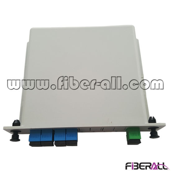 1X4 Optical Fiber PLC Splitter in Plastic Lgx Box pictures & photos