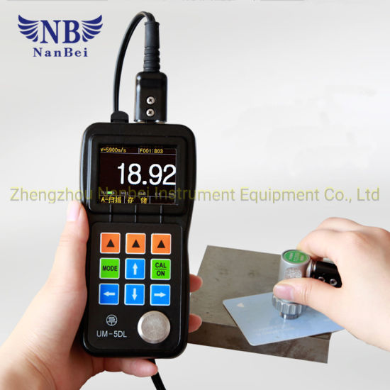 Handheld Digital Ultrasonic Thickness Gauge LCD Tester Accuracy ± 0.5/% H+0.1mm