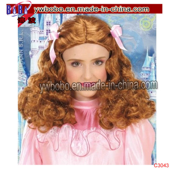 Party Princess Wig for Fairytale Royal Halloween Costumes Accessory (C3043)