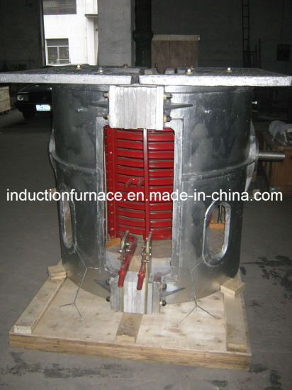 Gwc Copper Brass Induction Melting Furnace with Hydraulic Tilting Device