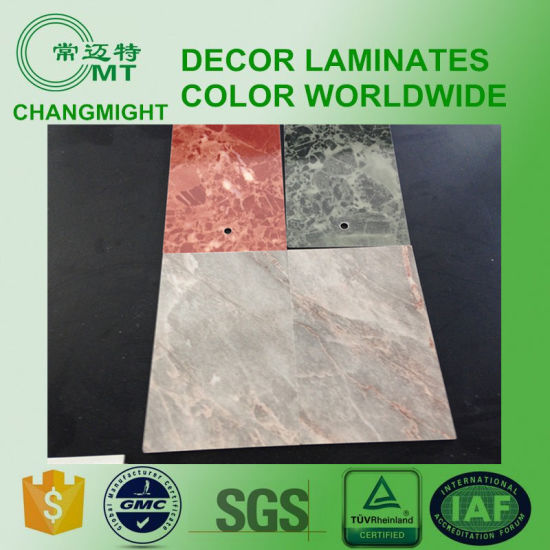 Wood Grain Laminate Kitchen Cabinets/Formica Laminate/HPL Laminated Sheet Manufacture pictures & photos