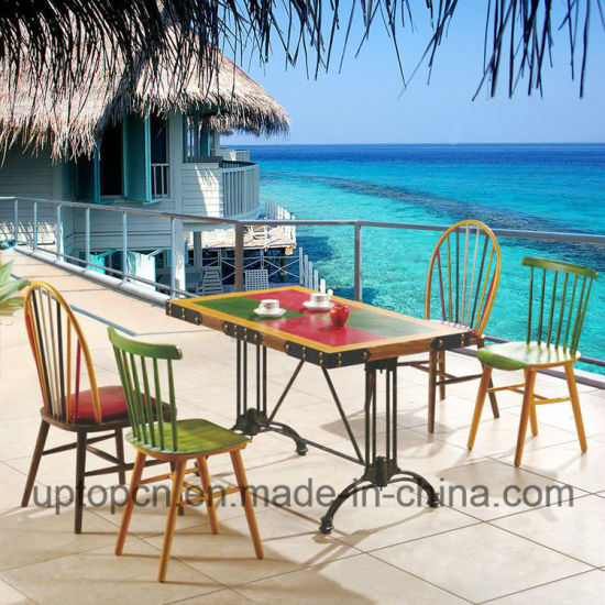 china wooden restaurant furniture set with colorful peacock chair rh uptopcn en made in china com