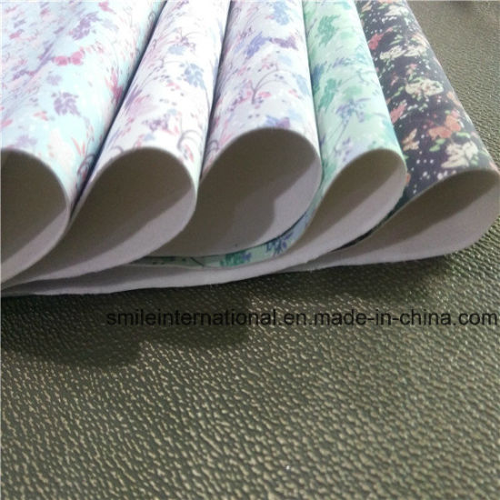 Printing PU Artificial Leather pictures & photos