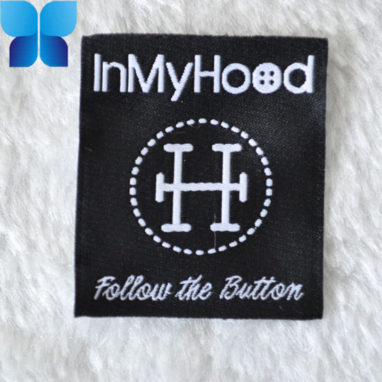100%Polyester Woven Main Labels Patch for Apparel Accessories pictures & photos