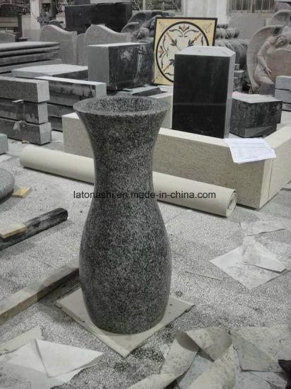 China Natural Granite Stone Cemetery Flower Vase China Granite