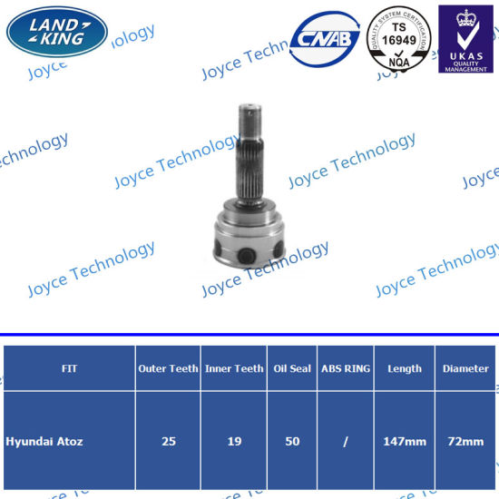 Wholesale Auto Spare Parts Manufacturer Outer CV Joint for Hyundai Atoz