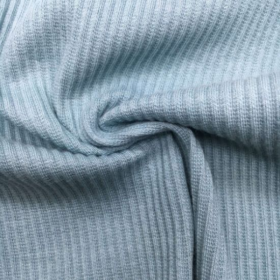 Solid 2*2rib 32sjcotton/Spandex 95/5, 290GSM Knit Fabric