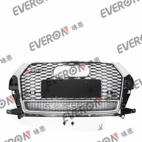 Car Bumper Auto Modified Front Grille for Audi 2016-2018 Q3 Rsq3
