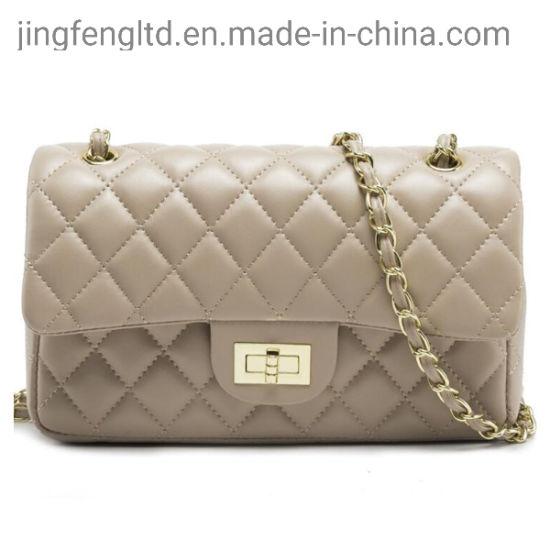 Ladies Mini Lock Quilted Flap Crossbody Bags Woman Chain Sling Shoulder Bag