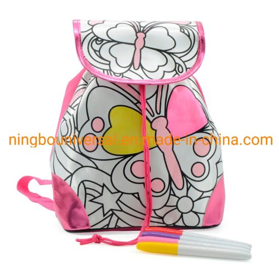 Promotional Most Popular Customized New Fashion Kids DIY Coloring Bag