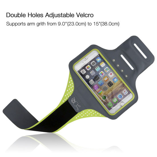 New Environmental Self-Generating Power Gym Armband Case with Reflective Stripe pictures & photos