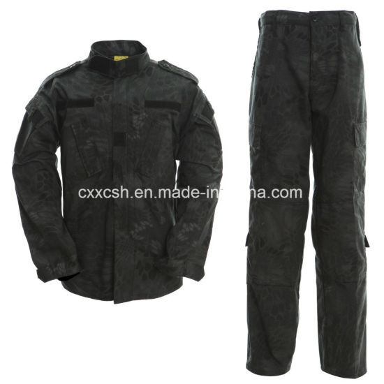Python Black Camouflage Acu Military Outdoor Clothing pictures & photos