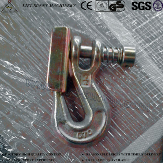 """1/4"""" Forged Alloy Steel G70 Clevis Grab Hook Safety Type"""