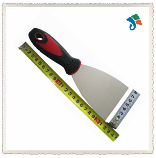Multi-Function Stainless Steel Scraper TPR Handle Putty Knife pictures & photos