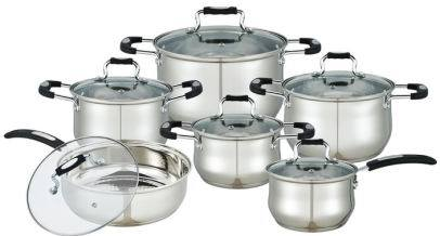 12 PCS Cookware Set with Silicone