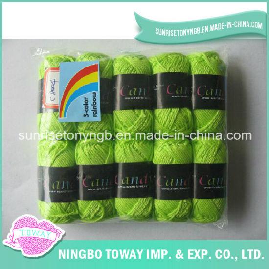 100% Cotton Weaving Cross Stitch Thread Knitting Wool Yarn