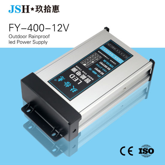 IP53 AC/DC Constant Voltage 400W 12V 33arainproof LED Driver for Outdoors