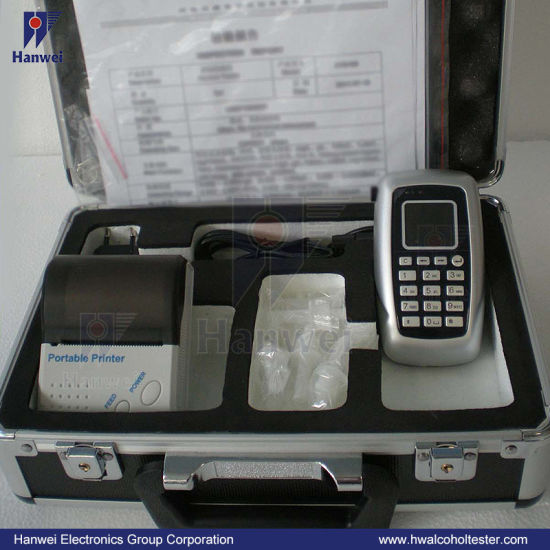 Driving Safety Alcohol Tester/Breathalyzer, Compact Design with Time Function and Keyboard Input