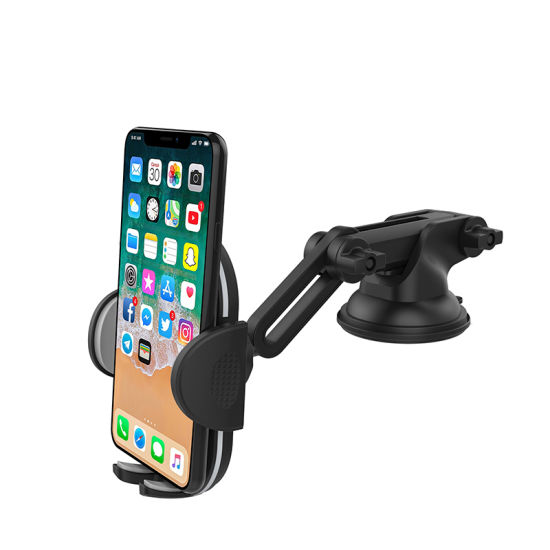 Adjustable Mobile Phone Car Holder Long Arm Support for iPhone Huawei Xiaomi Samsung
