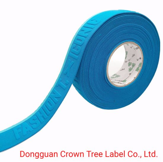 Fashion T Blue Color Elastic Ribbon with High Tenacity for Apparel Accessories