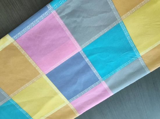 Colorful Grid Pattern Bedding Sheet for Polyester Fabric