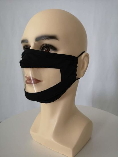 Fashion Surdomute Deaf-Mute Mask Custom Cotton Earloop Protective Anti-Dust Reusable Face Mask with PVC for Surdomute