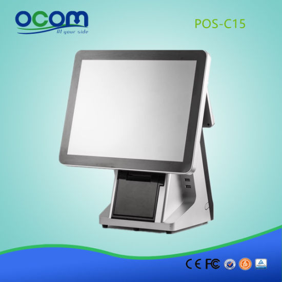 Touch Screen Restaurant J1900 2g 32g SSD POS System with Thermal Printer