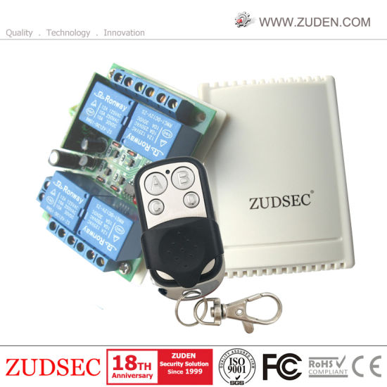 4-Channel DC12V Wireless RF Remote Control Receiver for Door Opener