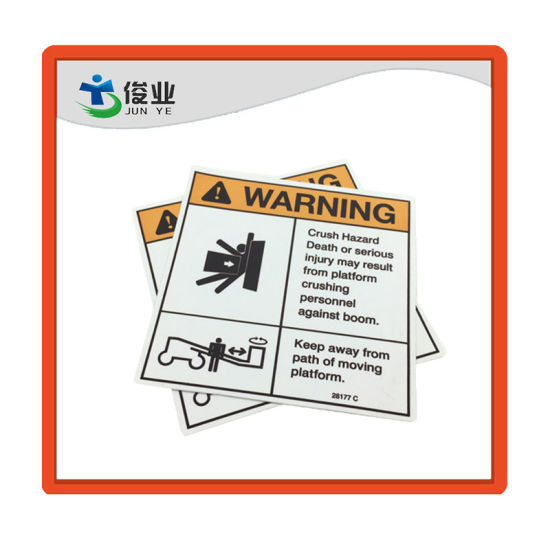 Clear Eye Catching Safe Notice Paper Sticker/Customized Printing Warning Label