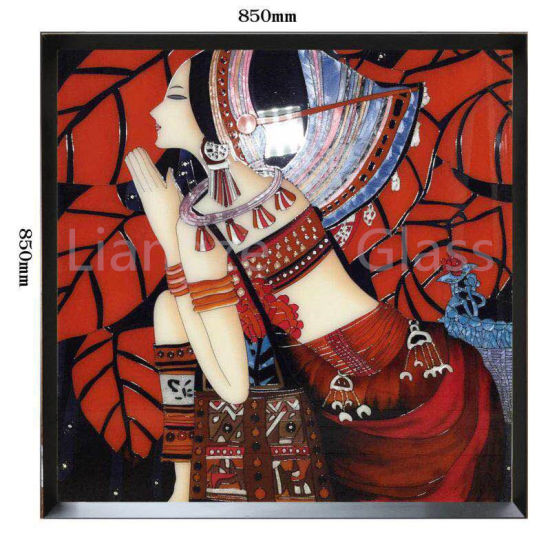 Handicraft Tempered Glass Painting with Enamel