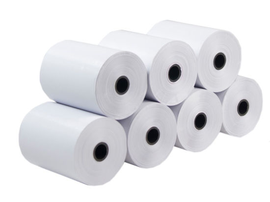 100% Woodpulp Factory Direct High Quality 80mm 57mm Credit Card Bank ATM BPA Free Thermal Receipt Paper Roll