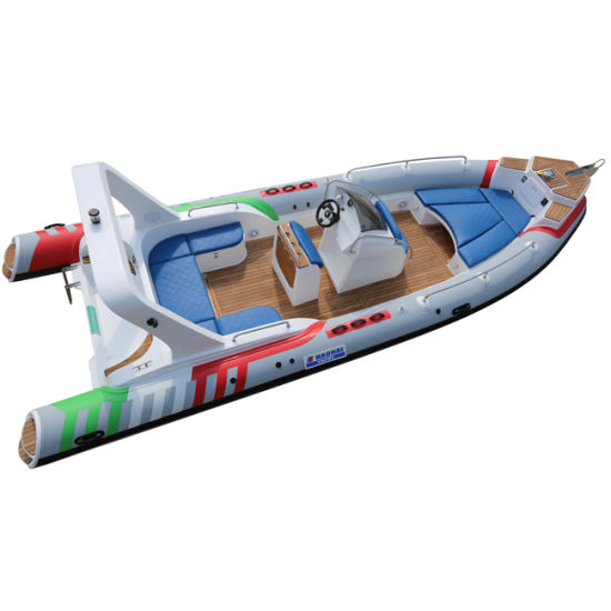 25FT 7.6m Rib Boat with 300L Built in Fuel Tank for Family