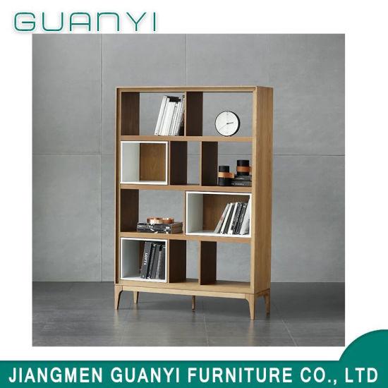 Modern Design Soild Ash Wood Furniture Living Room Bookcase
