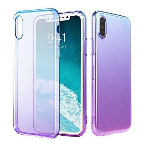 Wholesales PC Acrylic Colors Gradual Change TPU Phone Case for iPhone X