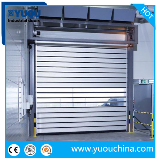 Industrial Automatic Aluminum Alloy Metal Thermal Insulated High Speed Performance Rolling Rapid Roll up Fast Acting Roller Shutter Spiral Security Garage Door