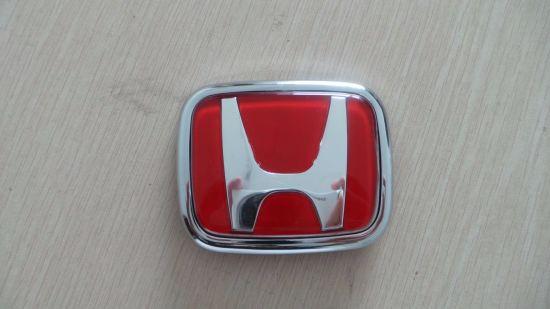 China RED Front Rear Back Logo Emblem Badge Cover For Honda China - Red acura emblem