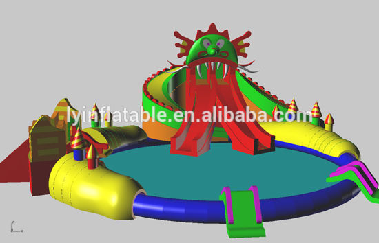 Ultimate Inflatable Backyard Water Park china leyuan ultimate entertainment inflatable water park / water