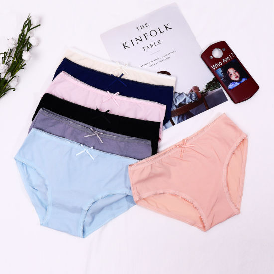 f8fd7b063 Pure Cotton Indentation Middle-Waisted Crotch of Cotton Women′s Underwear