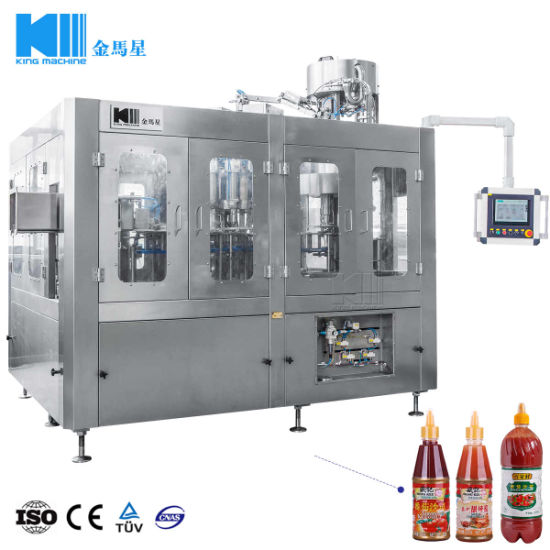 Automatic Salad Sauce Glass Pet Bottle Filling Capping Machine pictures & photos