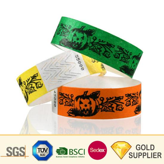 Cheap Custom Logo Tyvek ID RFID Wrist Band Bracelet Waterproof Printing  Hospital Identification VIP Disposable Passive RFID DuPont Paper Tag  Wristband