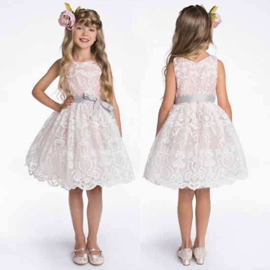 Girls Dresses Summer Lace Party Baby Flower Girl Dress